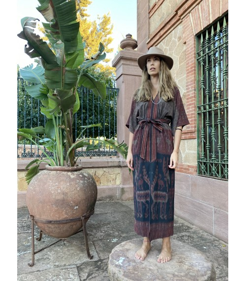 TERBUAI Abstrak Kimono Dress