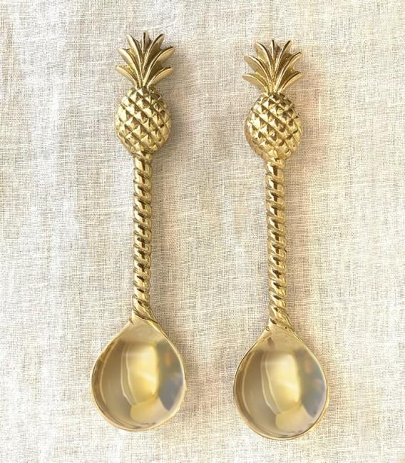 Set de cuchara/tenedor: palmera y piña