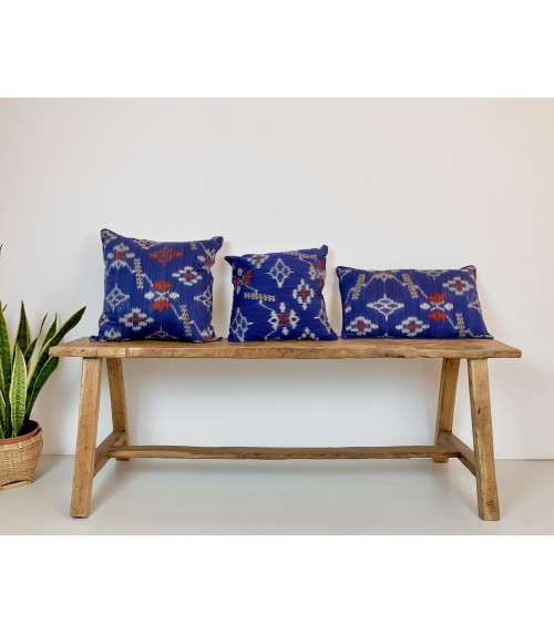 Ikat Blue Cushion